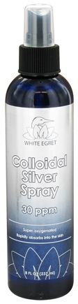 DROPPED: White Egret - Colloidal Silver Spray - 8 oz. CLEARANCE PRICED