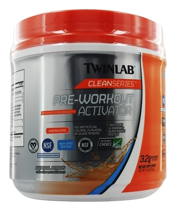 Twinlab - Clean Series Pre-Workout Activator Natural Citrus - 1 lb.