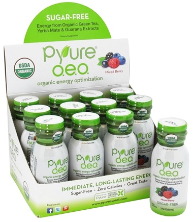 DROPPED: Pyure - O.E.O. Organic Energy Shots Mixed Berry - 2 oz.