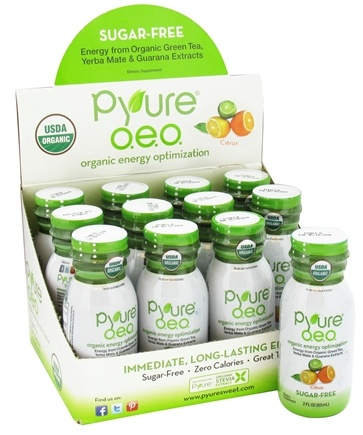 DROPPED: Pyure - O.E.O. Organic Energy Shots Citrus - 2 oz.