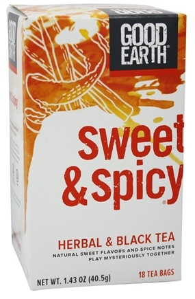 Good Earth Teas - Sweet & Spicy Herbal and Black Tea - 18 Tea Bags