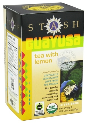 DROPPED: Stash Tea - Guayusa with Lemon - 18 Tea Bags CLEARANCE PRICED