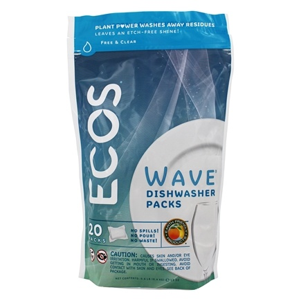 DROPPED: Earth Friendly - Wave Automatic Dishwasher Detergent Free & Clear - 20 Pouches