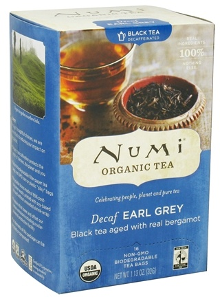 DROPPED: Numi Organic - Black Tea Decaf Earl Grey - 16 Tea Bags