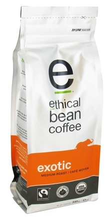 DROPPED: Ethical Bean Coffee - Organic Medium Roast Whole Bean Exotic - 12 oz. CLEARANCE PRICED