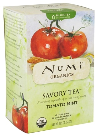 DROPPED: Numi Organic - Black Savory Tea Tomato Mint - 12 Tea Bags CLEARANCE PRICED