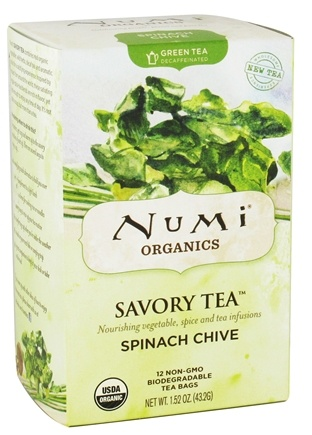 DROPPED: Numi Organic - Green Savory Tea Spinach Chive - 12 Tea Bags CLEARANCE PRICED