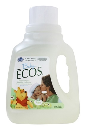 DROPPED: Earth Friendly - Baby Ecos Hypoallergenic Laundry Detergent Free & Clear - 50 oz. CLEARANCE PRICED