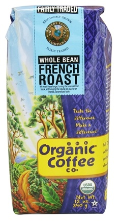 DROPPED: Organic Coffee Company - French Roast Whole Bean Coffee - 12 oz. CLEARANCE PRICED