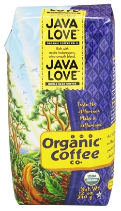 DROPPED: Organic Coffee Company - Java Love Whole Bean Coffee - 12 oz. CLEARANCE PRICED