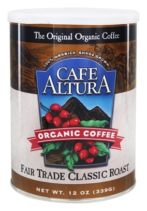 Cafe Altura - Organic Coffee Fair Trade Classic Roast - 12 oz.