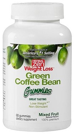 DROPPED: Herbal Zen Weight Loss - Green Coffee Bean Gummies Mixed Fruit - 60 Gummies