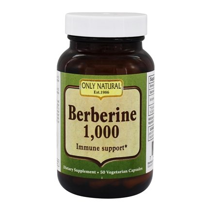 Only Natural - Berberine Immune Support 1000 mg. - 50 Vegetarian Capsules