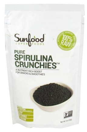 DROPPED: Sunfood Superfoods - Pure Spirulina Crunchies - 4 oz. CLEARANCE PRICED