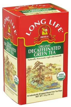DROPPED: Long Life Teas - Organic Green Tea Decaffeinated - 18 Tea Bags CLEARANCE PRICED
