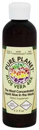 DROPPED: Pure Planet - Aloe Vera Concentrate 40X - 4.2 oz. CLEARANCE PRICED