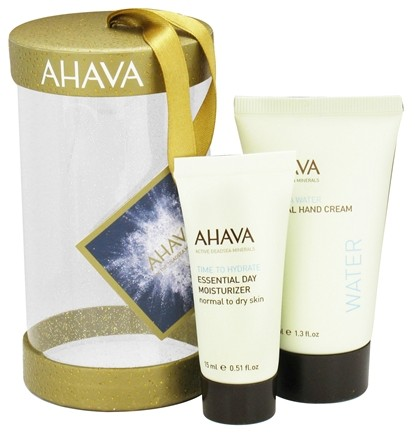 DROPPED: AHAVA - Bright & Merry Ornament Mineral Hand Cream + Essential Day Moisturizer - CLEARANCED PRICED