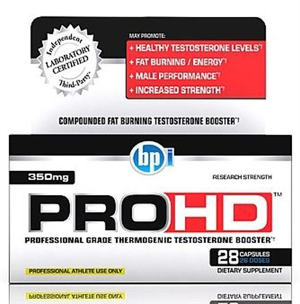 DROPPED: BPI Sports - PRO-HD Professional Grade Thermogenic Testosterone Booster - 28 Capsules