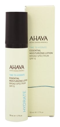 DROPPED: AHAVA - Time To Hydrate Essential Moisturizing Lotion Broad Spectrum 15 SPF - 1.7 oz.