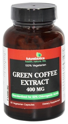DROPPED: Futurebiotics - 100% Vegetarian Green Coffee Extract 400 mg. - 60 Vegetarian Capsules CLEARANCE PRICED