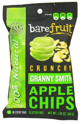 DROPPED: Bare Fruit - 100% Natural Crunchy Apple Chips Granny Smith - 1.69 oz.