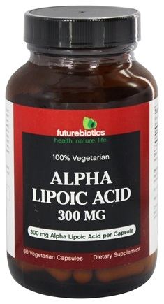 DROPPED: Futurebiotics - 100% Vegetarian Alpha Lipoic Acid 300 mg. - 60 Vegetarian Capsules CLEARANCE PRICED