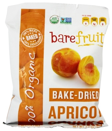 DROPPED: Bare Fruit - 100% Organic Bake-Dried Apricot Chunks - 2.2 oz.