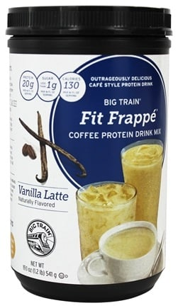 DROPPED: Big Train - Fit Frappe Coffee Protein Drink Mix Vanilla Latte - 19.1 oz.