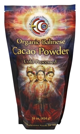 Earth Circle Organics - Organic 100% Balinese Cacao Powder - 16 oz.