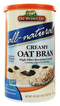 Old Wessex Ltd. - Creamy Oat Bran Cereal All-Natural - 18.5 oz.