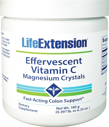Life Extension - Effervescent Vitamin C - Magnesium Crystals - 6.35 oz.