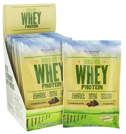 DROPPED: ReserveAge Organics - Grass-Fed Whey Protein Chocolate - 10 x 1 oz. Packets CLEARANCE PRICED