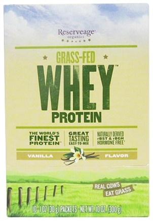 DROPPED: ReserveAge Organics - Grass-Fed Whey Protein Vanilla - 10 x 1 oz. Packets