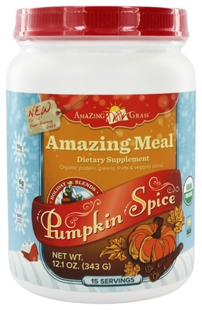 DROPPED: Amazing Grass - Amazing Meal Powder Holiday Blend 15 Servings Pumpkin Spice - 12.1 oz.