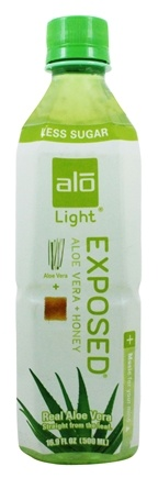 ALO - Original Aloe Drink Exposed Light Aloe Vera + Honey - 16.9 oz.