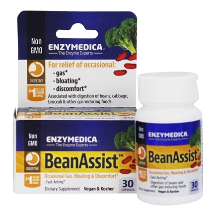 Enzymedica - Bean Assist Gas & Bloating Relief - 30 Capsules