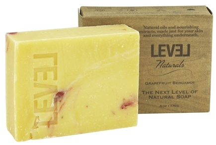 Level Naturals - Bar Soap Grapefruit Bergamot - 6 oz.