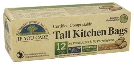 If You Care - Certified Compostable Tall Kitchen Bags - 12 Bags