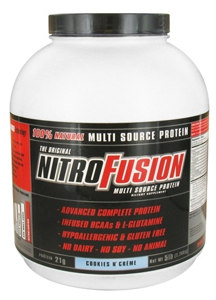 DROPPED: NitroFusion - Multi Source Protein Cookies N' Creme - 5 lbs.