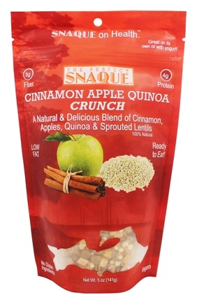 The Perfect Snaque - Cinnamon Apple Quinoa Crunch - 5 oz.