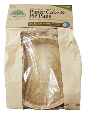 If You Care - Paper Cake & Pie Pans Unbleached Totally Chlorine-Free (TCF) - 4 Pans
