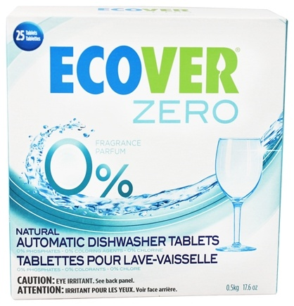 Ecover - Zero Automatic Dishwasher Tablets 25 Loads Unscented - 17.6 oz.