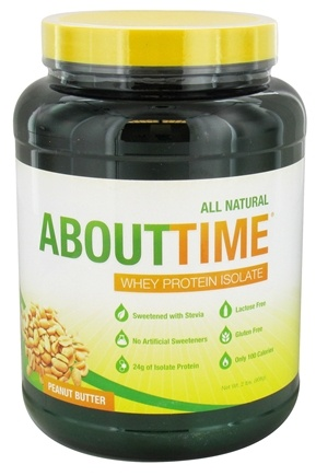DROPPED: About Time - Whey Protein Isolate Peanut Butter - 2 lbs.