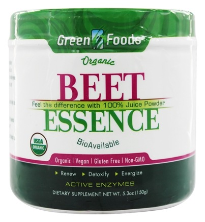 DROPPED: Green Foods - Organic Gluten Free Beet Essence - 5.3 oz.