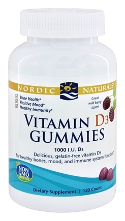 Nordic Naturals - Vitamin D3 Gummies Wild Berry 1000 IU - 120 Gummies