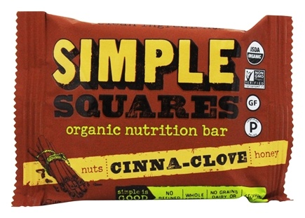 Simple Squares - Organic Gluten-Free Nuts & Honey Nutrition Bar Cinnamon Clove - 1.6 oz.
