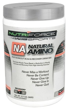 NutriForce Sports - Natural Amino Post-Workout BCAA Powder Recovery Drink Mix Watermelon - 12.7 oz.