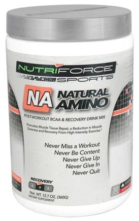 DROPPED: NutriForce Sports - Natural Amino Post-Workout BCAA Powder Recovery Drink Mix Watermelon - 12.7 oz.