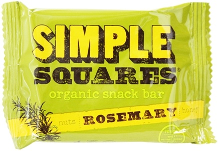 Simple Squares - Organic Gluten-Free Nuts & Honey Nutrition Bar Rosemary - 1.6 oz. LUCKY PRICE