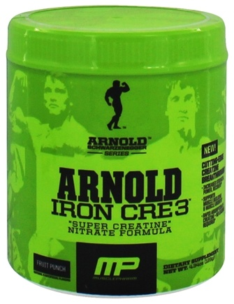 DROPPED: Muscle Pharm - Arnold Schwarzenegger Series Arnold Iron CRE3 Fruit Punch - 4.34 oz.